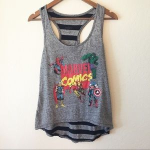 Marvel Superheroes Classic Graphic Striped Tank L